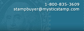 Contact by Phone at 1-800-835-3609 or at stampbuyer@mysticstamp.com